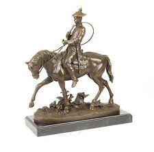 Bronze Skulptur Ludwig XV. auf Pferd Figur Reiter neu 99937613-dss