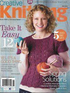 Creative Knitting Magazine Spring Projects Alternative Fibers Machine Washable