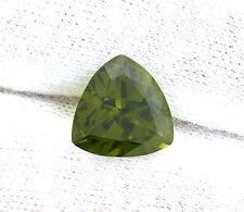 5.31 Carat 11mm Trilliant Trillion Olive Green Peridot Gem Stone Genstone LPF3