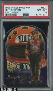 1999 Press Pass VIP Head Gear Jeff Gordon PSA 8 NM-MT