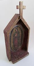 Mexican Folk Art Mother of Guadalupe Retablo Alter