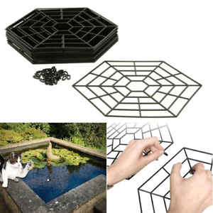 40PC PLASTIC POND PROTECTOR FLOATING COVER NET WATER FISH GUARD GRID CATS HERONS