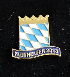 Bayern, Fluthelfer 2013, Abzeichen in Etui, an Pin tragbar