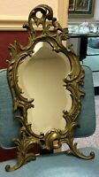 Antique Bradley & Hubbard B&H 1925 Brass Gilt Mirror Beveled Glass #3586