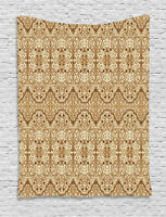 Arabesque Tapestry Middle Eastern Arabic Print Wall Hanging Decor 40Wx60L Inches