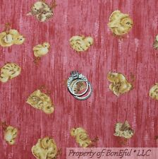 BonEful FABRIC FQ Cotton Quilt Pink Yellow Easter S Chick Spring Baby Girl Farm
