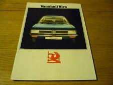 Vauxhall Viva Folleto 1974 Jm
