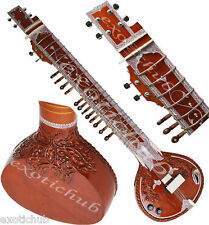 SITAR~DESIGNER TUN WOOD~VILAYAT KHAN STYLE~MIZRAB, STRINGS~HAND MADE INDIAN