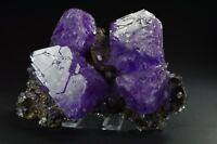 Alun Alunite crystals on matrix from Poland specimen new purple like fluorite