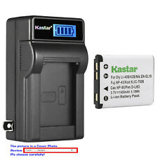 Kastar Battery LCD Wall Charger for Fujifilm NP-45A 45B NP45S Fuji FinePix JV200