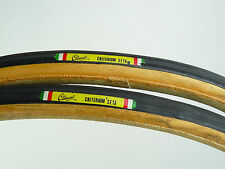 "Clement Criterium Seta tire set 700c 27"" Silk Tubular track Road Bike NOS"