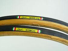 "Clement Criterium Seta tire set 700c 27"" Silk Tubular track Road Bike NOS"