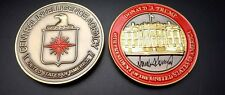 challenge coin  CENTRAL INTELLIGENCE AGENCY  DONALD TRUMP 2 INCH