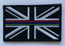 Emergency Services Triple Thin Blue Green Red Line  Union Jack Morale Patch UK