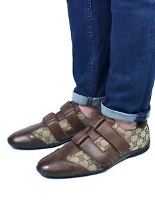 GUCCI men's beige canvas guccissima sneakers   Size EU 42.5/US 9.5 (28 cm/11 in)