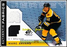 UD SP GAME USED SPGU 2007 MARC SAVARD BOSTON BRUINS DUAL GAME JERSEY 2C #AFMS