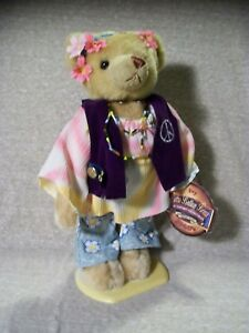 """T15  Brass Button Bears, 20th Century Collectibles, 60's, Ivy, Groovy, Peace 11"""""""