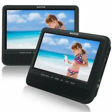 """WONNIE 7.5"""" Inch Dual Portable DVD Player for Car Two Screens (play same movies)"""
