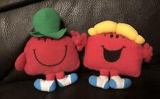 "mcdonalds mr men little miss chatterbox & Mr Chatterbox  soft toy 5"" 1999"