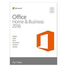 Microsoft Office Home & Business 2016-pour Mac-DE/EN/FR + Multilingual-NEUF