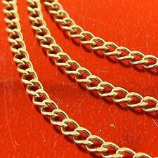 NECKLACE PENDANT CHAIN 18K YELLOW GOLD FILLED CURB VINTAGE LINK DESIGN FS3A083