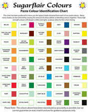 *Any 25* Sugarflair Paste Edible Gel Concentrated Icing Food Colouring Colour