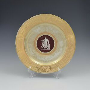 Early Coalport Neo Classical Dessert Plate Greek Key Border c.1805-1810 Antique