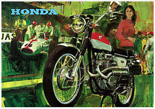 HONDA Poster CL350 1967 1968 1969 and 1970 Pop Art Suitable to Frame