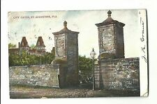 1908 Postcard City Gates St Augustine Florida Undivided Novelty Co of America
