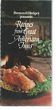 COOK BOOK RECIPES FROM GREAT AMERICAN INNS 1981