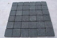 Sample Black Tumbled Basalt 5 cm by 5cm Mosaic wall tiles