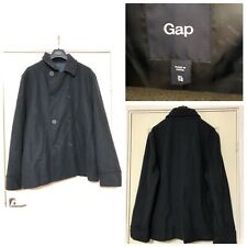 Gap Wool Coat Jacket Women Navy Blue Size XL Excellent Condition (A778)