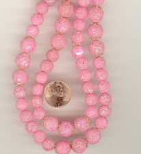 12 Vintage Japan LT BERRY Glass Sugar Beads 8mm FROM ORIGINAL STRAND AS SHOWN