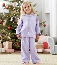 NEW Pottery Barn Kids Toddler Flannel Pajama Set Size 4 LAVENDER Purple