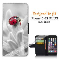 iPhone 6 PLUS 6S PLUS 5.5inch Wallet Flip Case Cover Lady Beetle Pretty Y00869