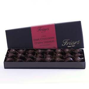 Luxury Dark Chocolate Whole Cherry Kirsch Liqueurs Gift Box 24 Chocolates 445g℮