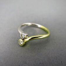 Unbehandelte natürliche Ringe aus mehrfarbigem Gold mit Diamanten