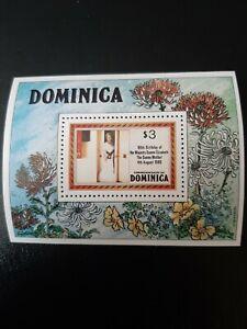 Dominica Stamps MiniSheet 1980. $3 80th Birthday Queen Elizabeth MNH