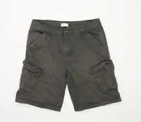 Firetrap Mens Green Cargo Cotton Blend Shorts Size L/L10
