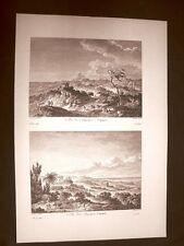 Agrigento Vedute della campagna di Akragas Voyage Pittoresque di Saint Non