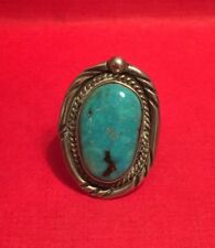 Turquoise Ring Size 5.5 Vintage Native American Sterling Silver