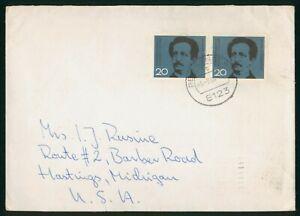 Mayfairstamps Germany 1964 to Hastings MI Ferdinand Lasalle Block Cover wwo_6834