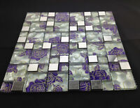 High Quality Mix Metal Glass Mosaic Wall Tiles - Kitchen/Bathroom Various Colors