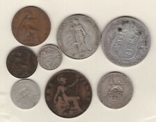 More details for 1910 edward vii set of 8 coins in used fine or better condition