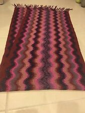 Authentic Missoni Chevron Fringe Scarf - $225. Wool Blend