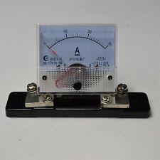 DC 0-30A 85C1 + Shunt Analog AMP Panel Meter Gauge Good