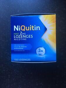 Niquitin Mint 2mg Lozenges Nicotine - Stop Smoking Aid - 132 Lozenges. Exp 07/21