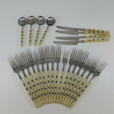 New listing 24 Pcs Orleans Silver Flatware Japanese Calligraphy Orl68 Stainless & Plastic