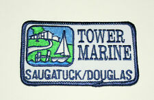 Vintage Boating Sailing Tower Marine Saugatuck / Douglas Patch New NOS 1980s
