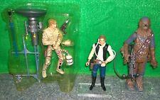 Star Wars Han Solo + Chewbacca from Legacy Millennium Falcon + Saga Bespin Luke